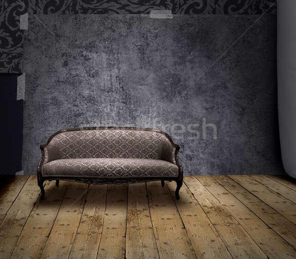 Sofa in mystery room Stock photo © Anterovium