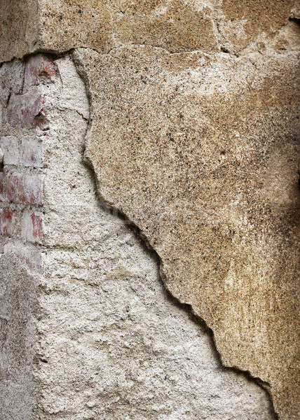 Grainy broken concrete wall background Stock photo © Anterovium
