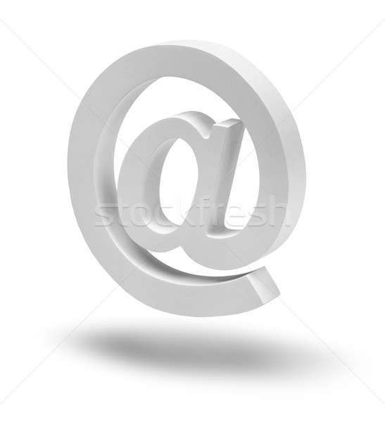 E-Mail Zeichen Symbol schwimmend isoliert realistisch Stock foto © Anterovium