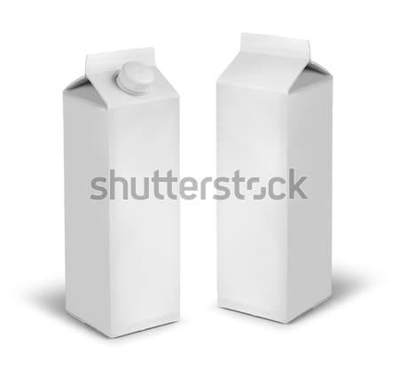 Blank milk or juice carton cans Stock photo © Anterovium