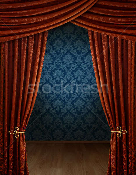 Grand opening curtains Stock photo © Anterovium
