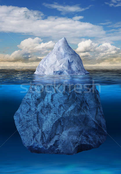 Iceberg floating in ocean Stock photo © Anterovium
