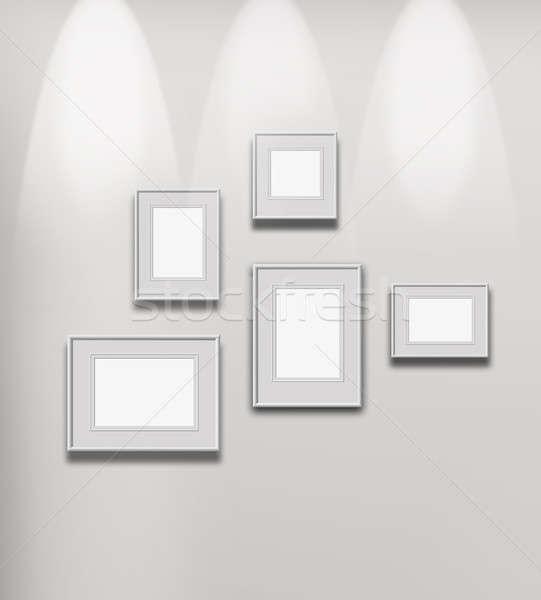 Illuminated art gallery Stock photo © Anterovium