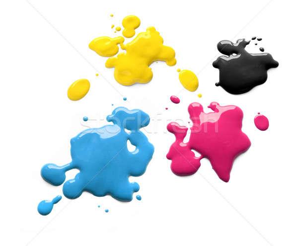 Printing inks cmyk Stock photo © Anterovium
