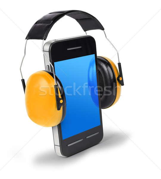 говорить громко телефон смартфон уха Сток-фото © Anterovium
