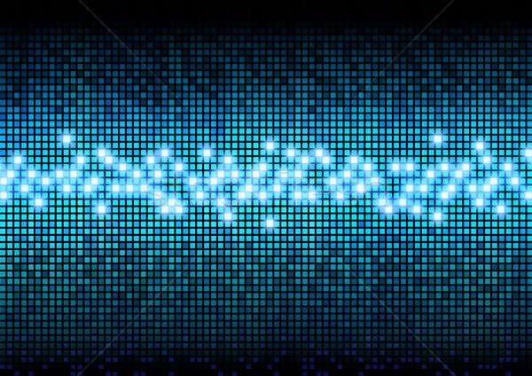 Digital pixels color display Stock photo © Anterovium