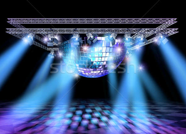 Disco stage lights construction Stock photo © Anterovium