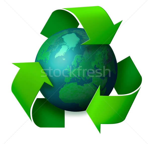 Earth recycling concept Stock photo © Anterovium