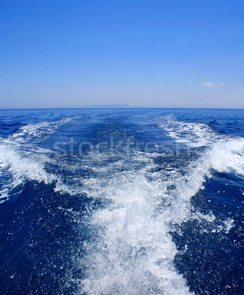 speed on blue sea Stock photo © Anterovium