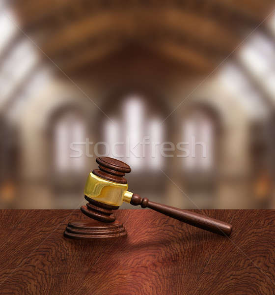 Judges gavel in courthouse, justice concept Stock photo © Anterovium