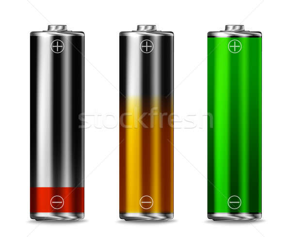 Low batt - Charging - full batt Stock photo © Anterovium