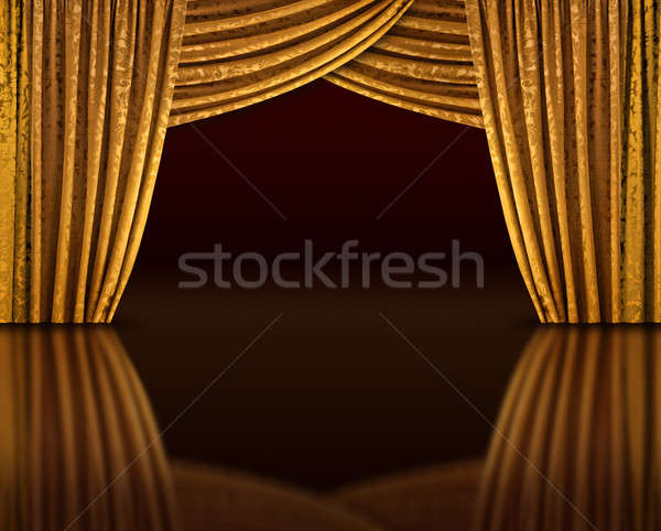 Golden stage reflect Stock photo © Anterovium