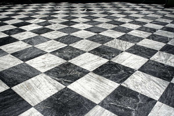 black et white marble floor Stock photo © Anterovium