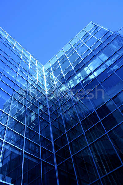 Modern bina cam alüminyum yapı Stok fotoğraf © Anterovium