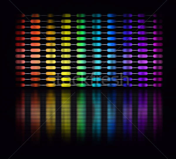 Color equalizer Stock photo © Anterovium