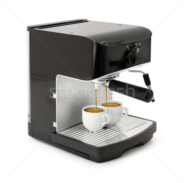 Espresso coffee brewing Stock photo © Anterovium