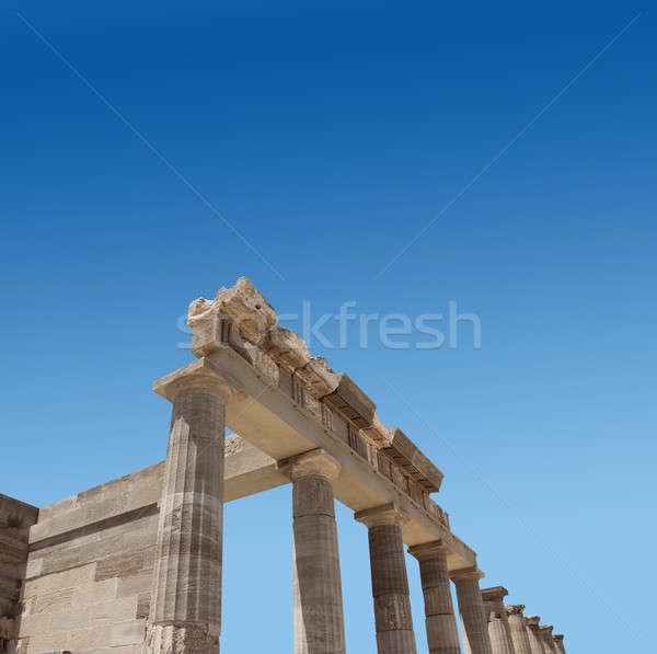 Antigo grego templo ruínas antigo fachada Foto stock © Anterovium