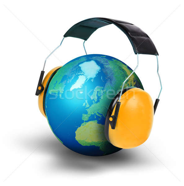 Planet earth noise pollution concept Stock photo © Anterovium