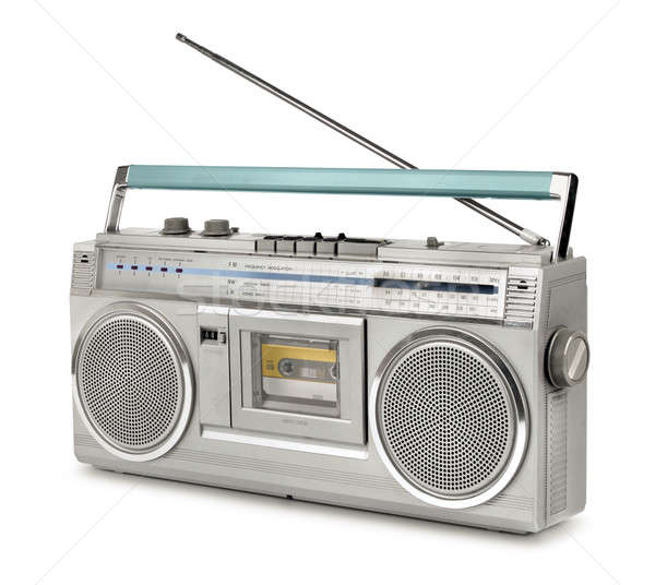 Eighties vintage radio cassette player Stock photo © Anterovium