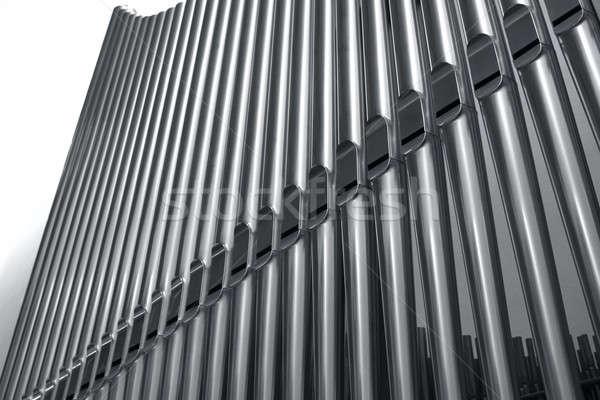 Organ borular perspektif modern çelik Stok fotoğraf © Anterovium