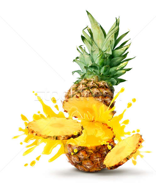 Ananas jus savoureux tropicales tranches Photo stock © Anterovium