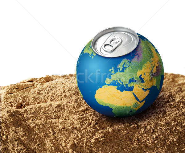 жаждущий планеты планете Земля высушите почвы песок Сток-фото © Anterovium