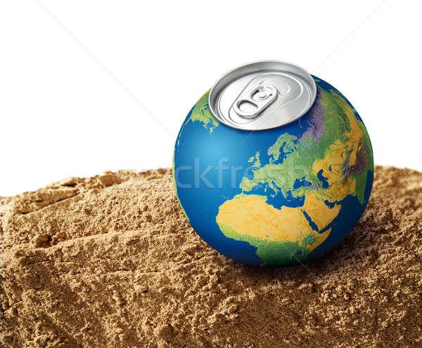 Susuz gezegen dünya gezegeni kuru toprak kum Stok fotoğraf © Anterovium