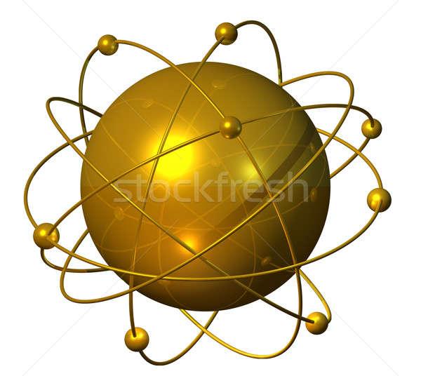 Dourado planeta esfera satélite teia Foto stock © Anterovium