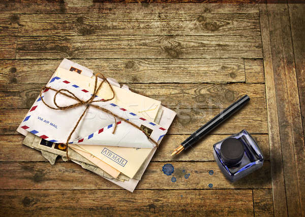 Nostalgic airmail letters Stock photo © Anterovium