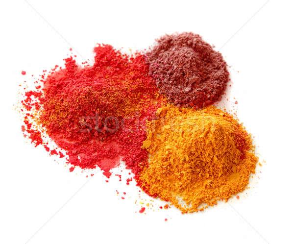 Spicy color powders Stock photo © Anterovium