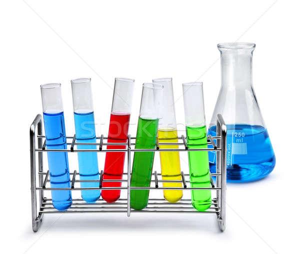 Labotatory equipment with liquid samples Stock photo © Anterovium