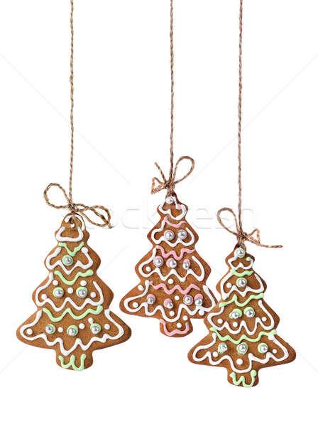 рождественская елка Cookies изолированный подвесной природного Сток-фото © Anterovium