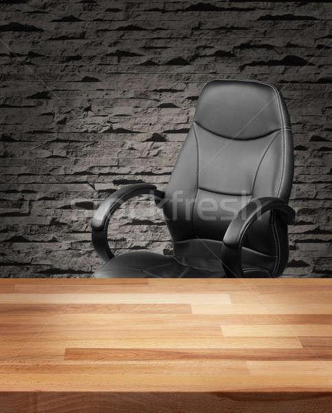 Executive sedia lusso ufficio business pelle Foto d'archivio © Anterovium