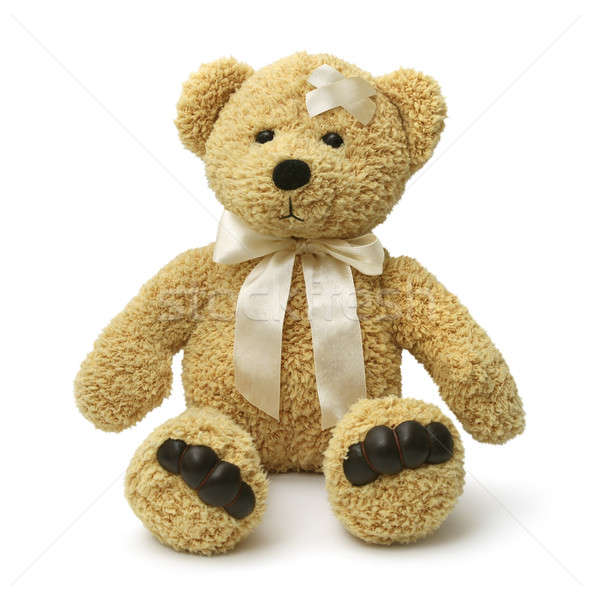 Sad teddy bear injured Stock photo © Anterovium