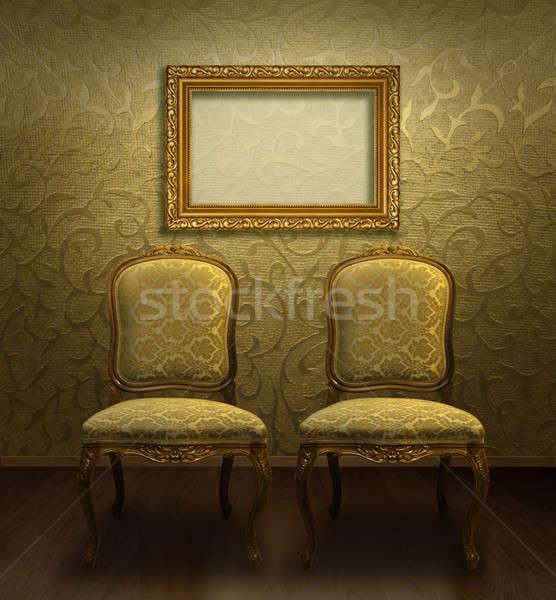 Classic chair and frame Stock photo © Anterovium
