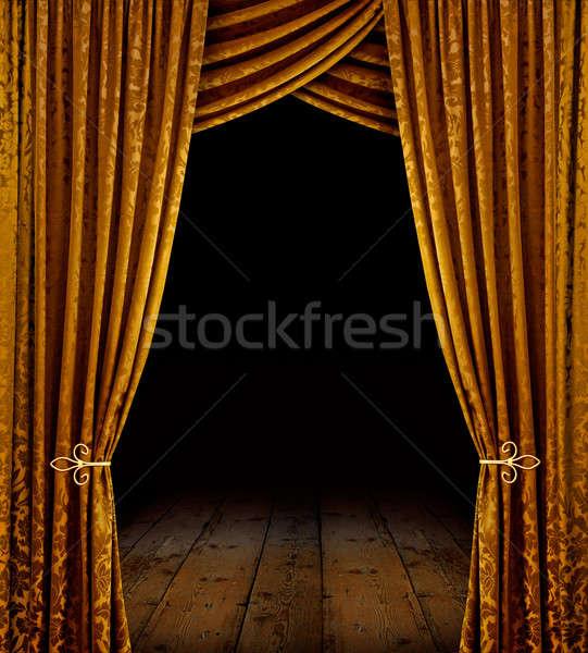 Golden stage Stock photo © Anterovium