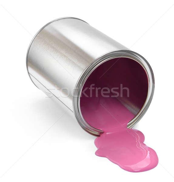 Festékes flakon rózsaszín festék fém piros színek Stock fotó © Anterovium