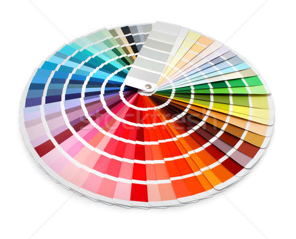 Designer color chart spectrum Stock photo © Anterovium