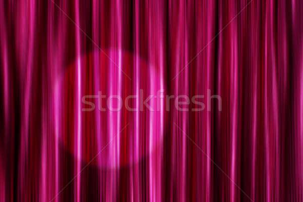 Mor perde ışık spot ipeksi saten Stok fotoğraf © Anterovium
