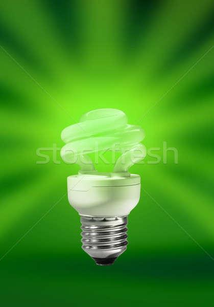 Energy saving compact fluorescent lamp Stock photo © Anterovium