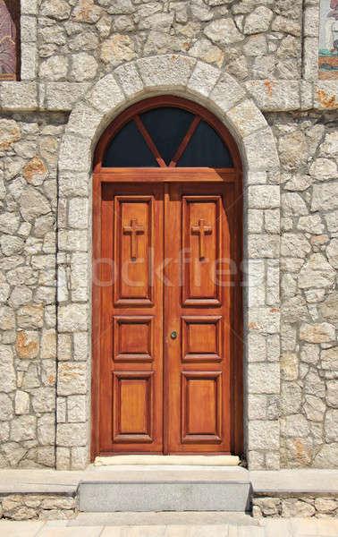 Church doors closed Stock photo © Anterovium