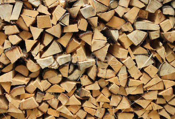 Brandhout hoop gehakt hout hout Stockfoto © Anterovium