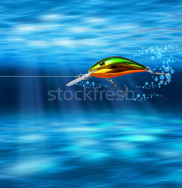 Colorful lure hunting underwater Stock photo © Anterovium
