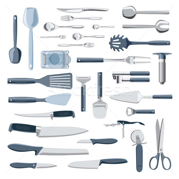 Kitchen equipment collection Stock photo © Anterovium