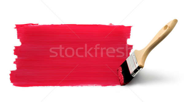 Paint brush painting red Stock photo © Anterovium