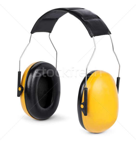 Hall izolált fehér citromsárga fekete építkezés Stock fotó © Anterovium