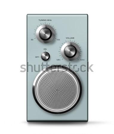 Moderna portátil radio estilo retro vintage frente Foto stock © Anterovium