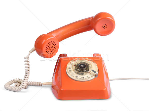 Vintage telephone answer handset Stock photo © Anterovium