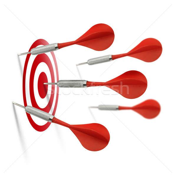 Only one dart hits the target Stock photo © Anterovium
