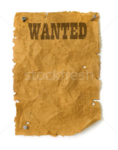 Wild west Wanted poster  Stock photo © Anterovium